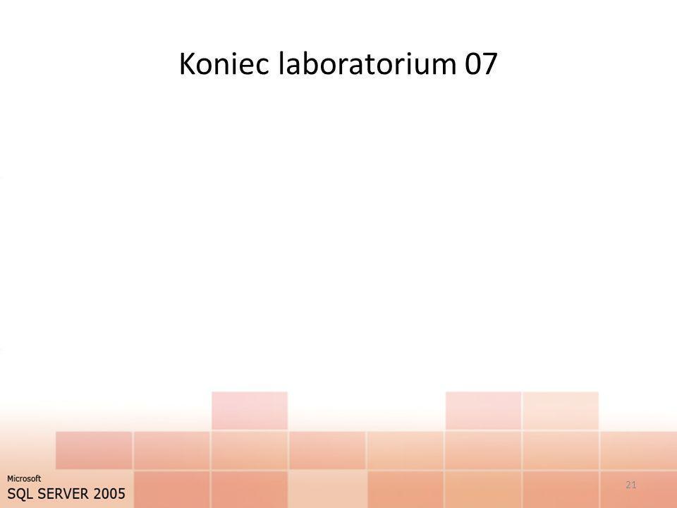 Koniec laboratorium 07