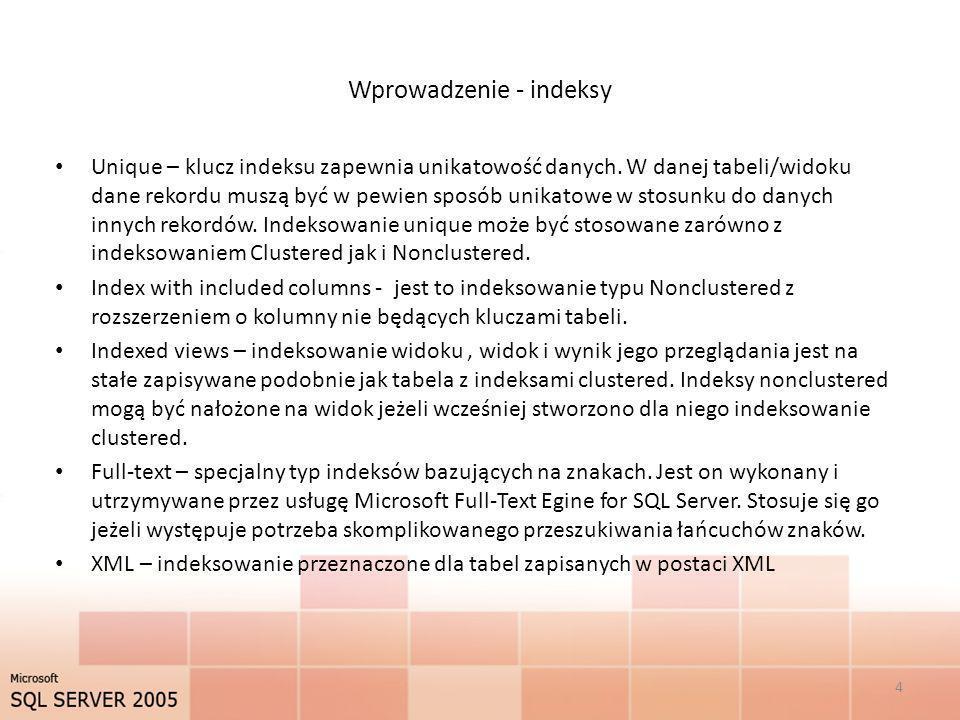 Wprowadzenie - indeksy