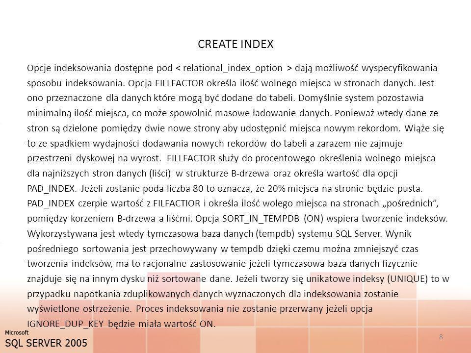 CREATE INDEX