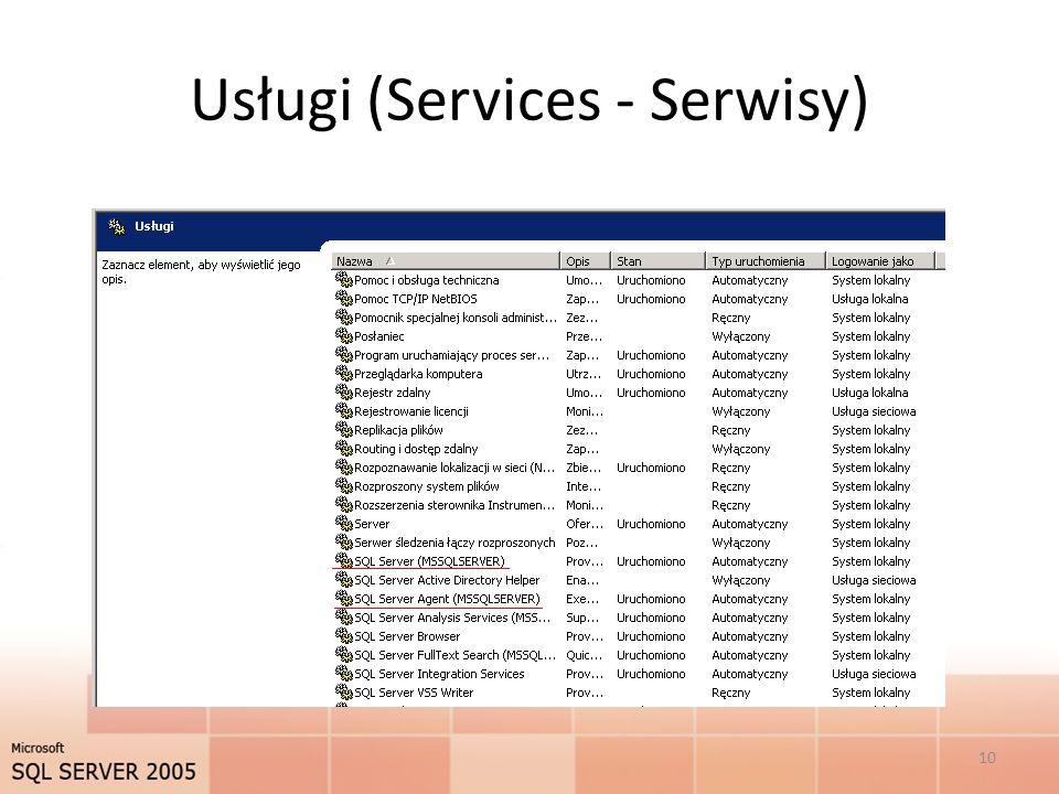 Usługi (Services - Serwisy)
