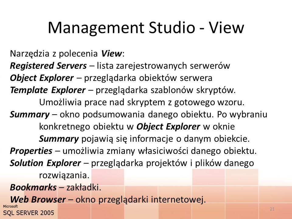 Management Studio - View