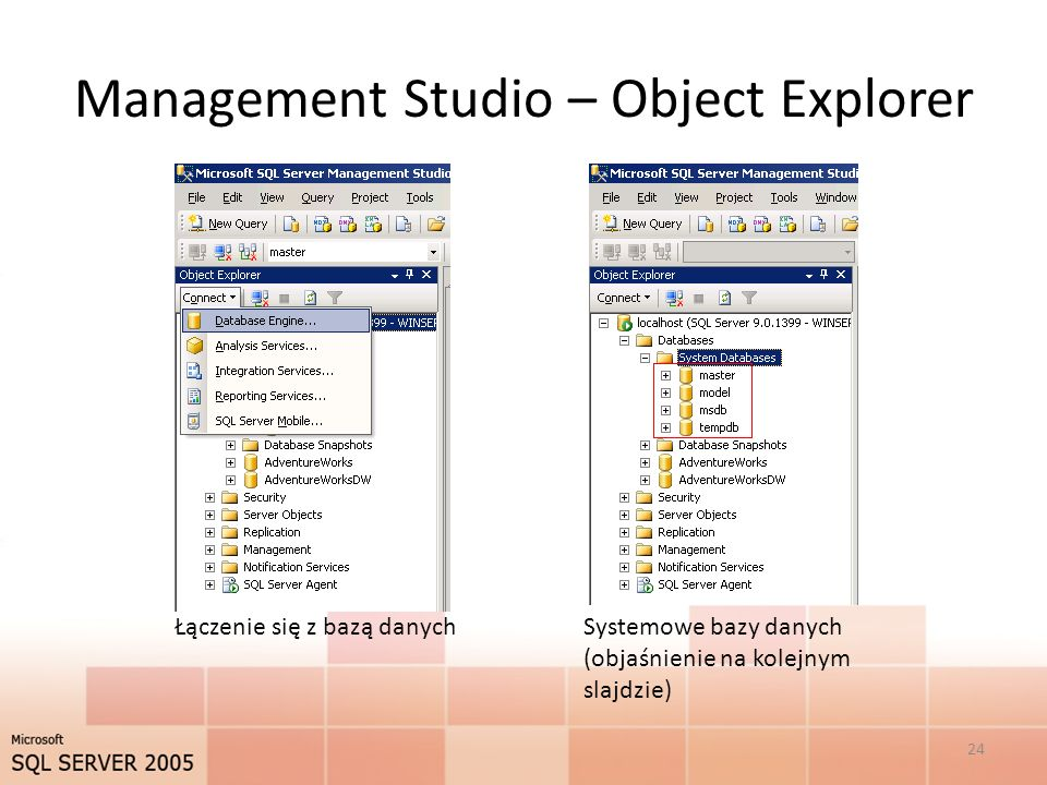Management Studio – Object Explorer