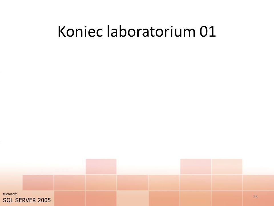 Koniec laboratorium 01