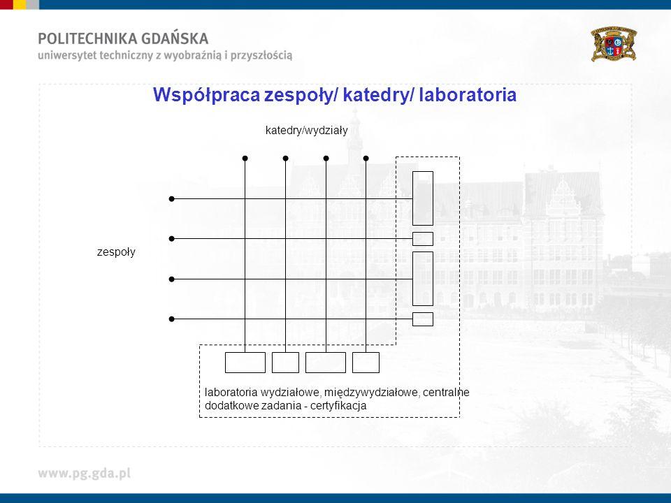 Współpraca zespoły/ katedry/ laboratoria