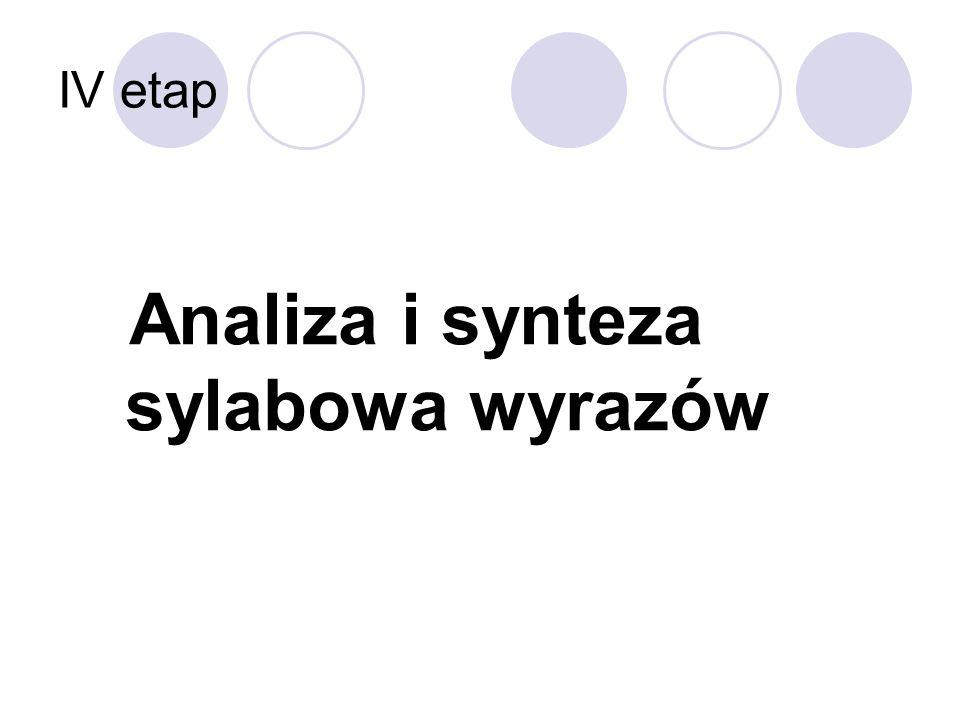 Analiza i synteza sylabowa wyrazów