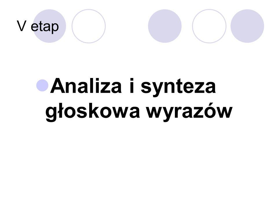 Analiza i synteza głoskowa wyrazów
