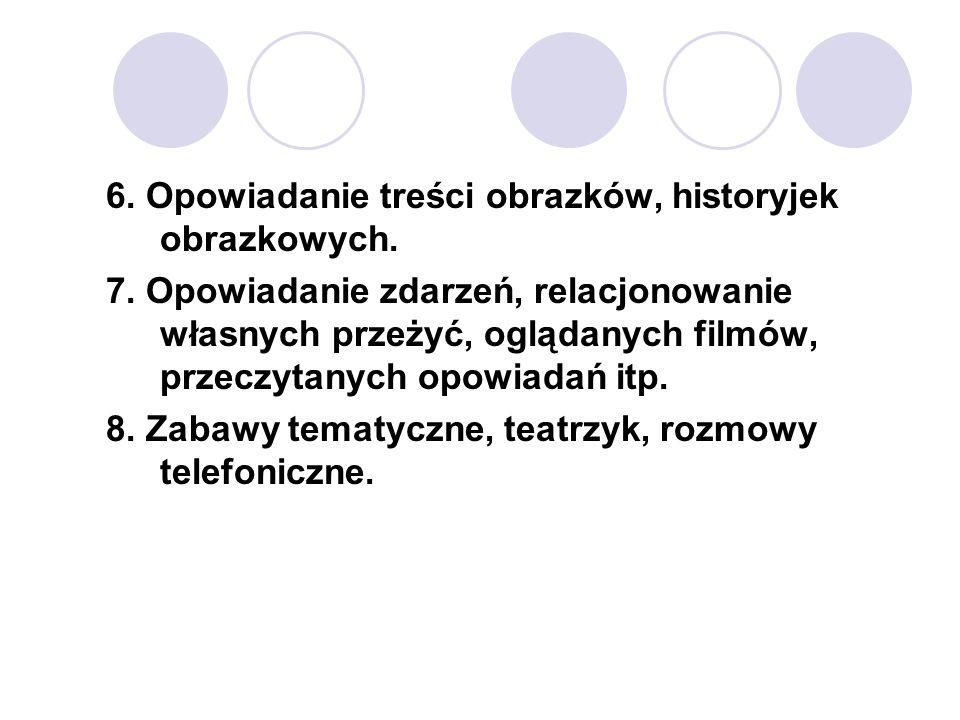 6. Opowiadanie treści obrazków, historyjek obrazkowych.