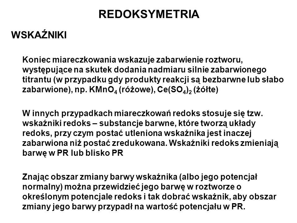 REDOKSYMETRIA WSKAŹNIKI