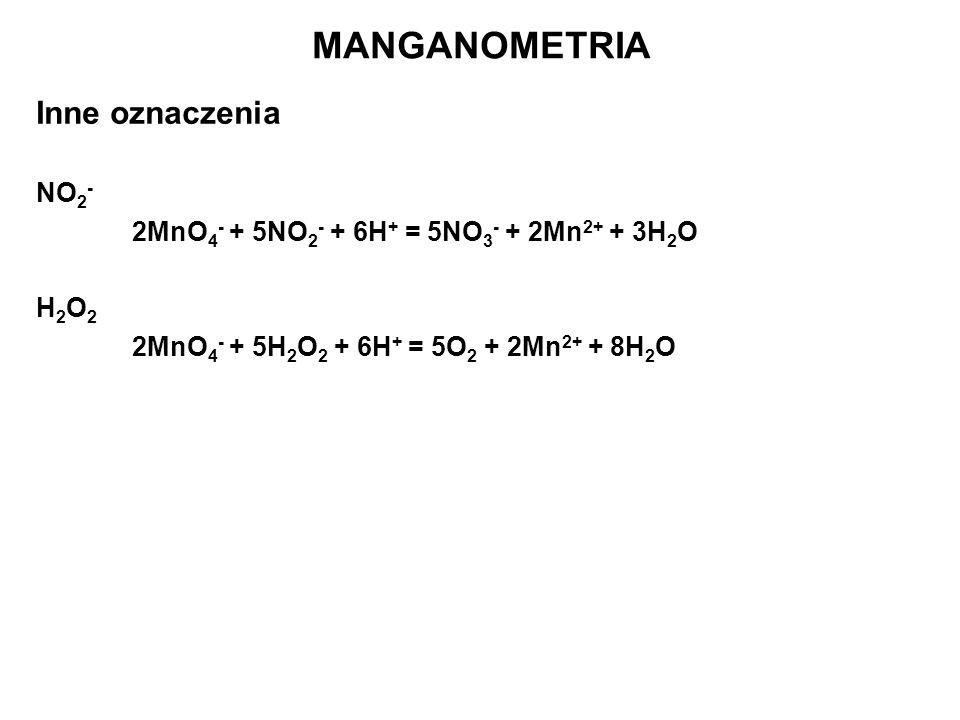 MANGANOMETRIA Inne oznaczenia NO2-
