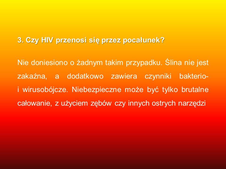 3. Czy HIV przenosi się przez pocałunek