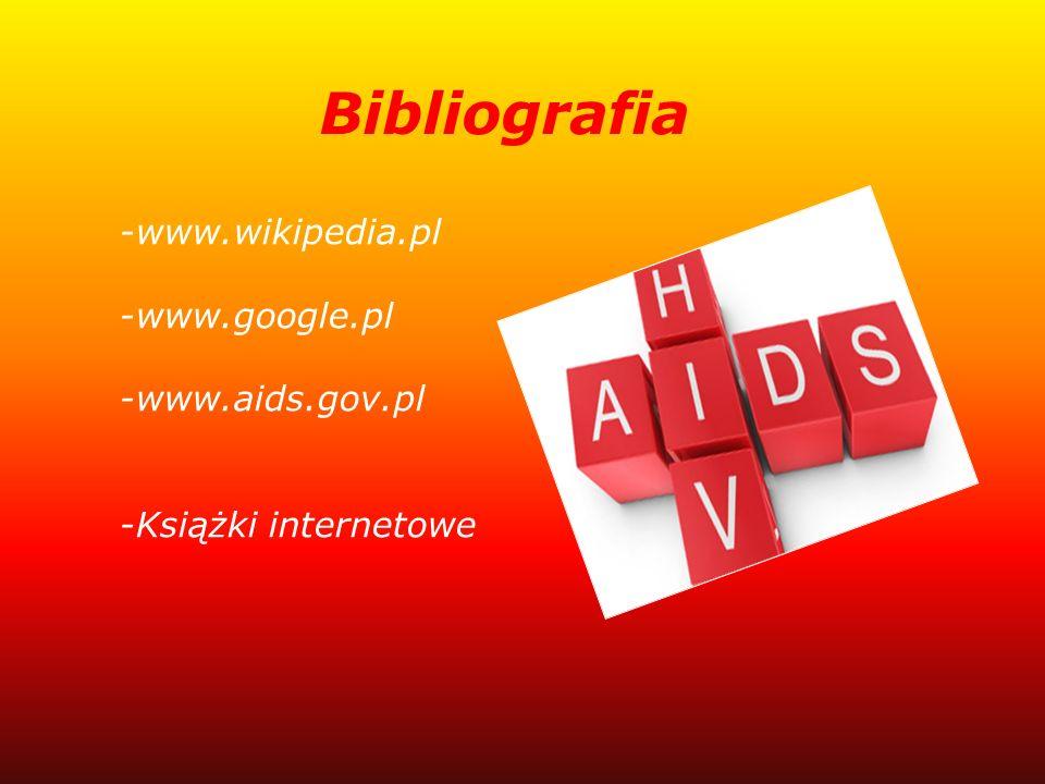Bibliografia -www.wikipedia.pl -www.google.pl -www.aids.gov.pl