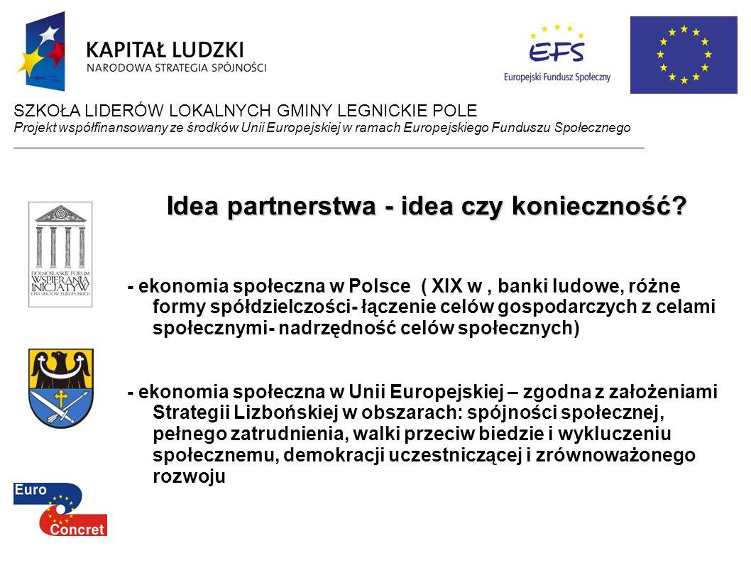 Idea partnerstwa - idea czy konieczność