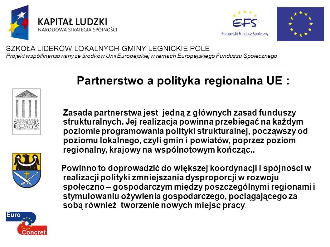 Partnerstwo a polityka regionalna UE :