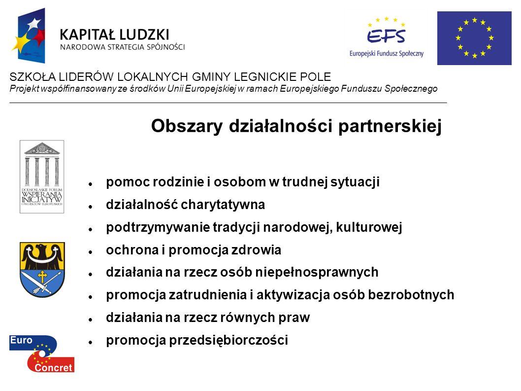 Obszary działalności partnerskiej