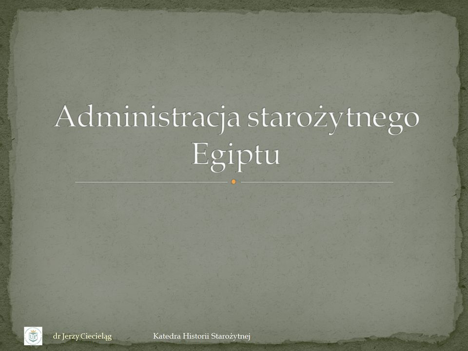 Administracja starożytnego Egiptu