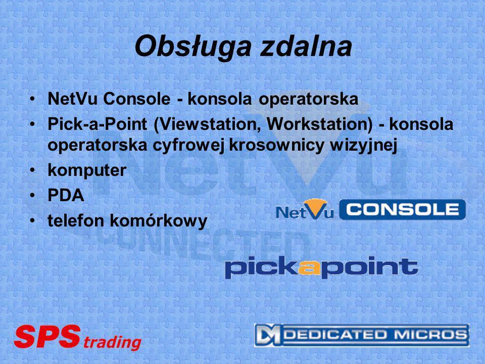 Obsługa zdalna NetVu Console - konsola operatorska
