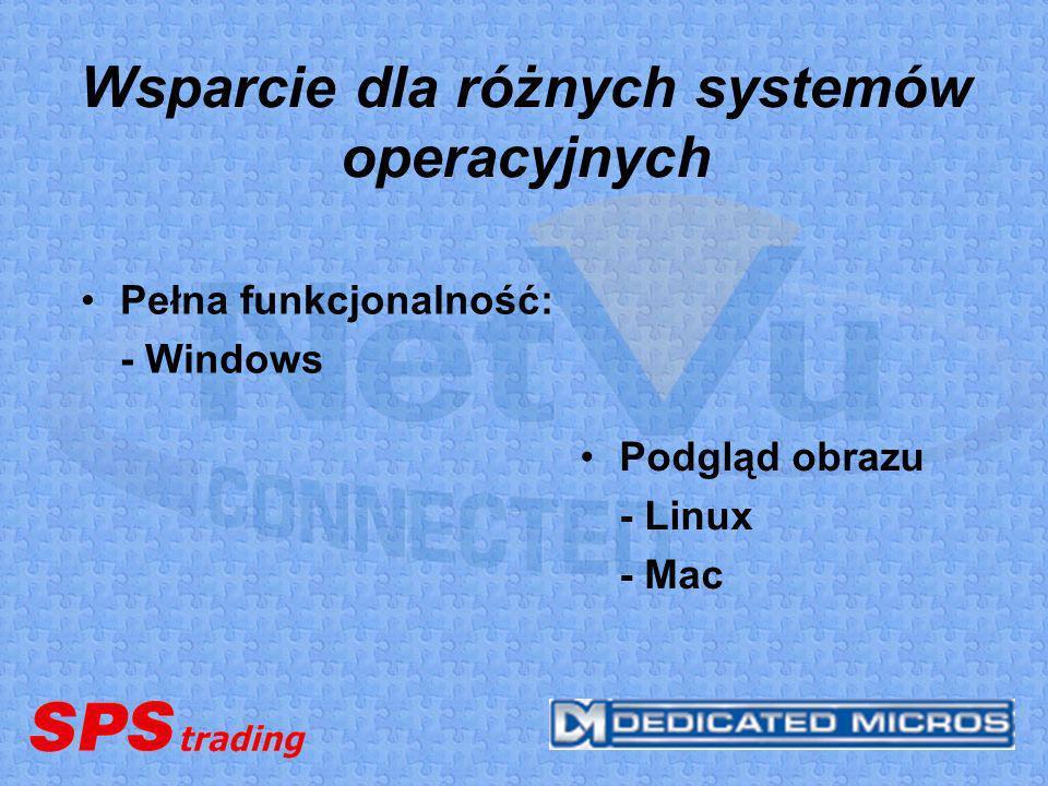 Wsparcie dla różnych systemów operacyjnych