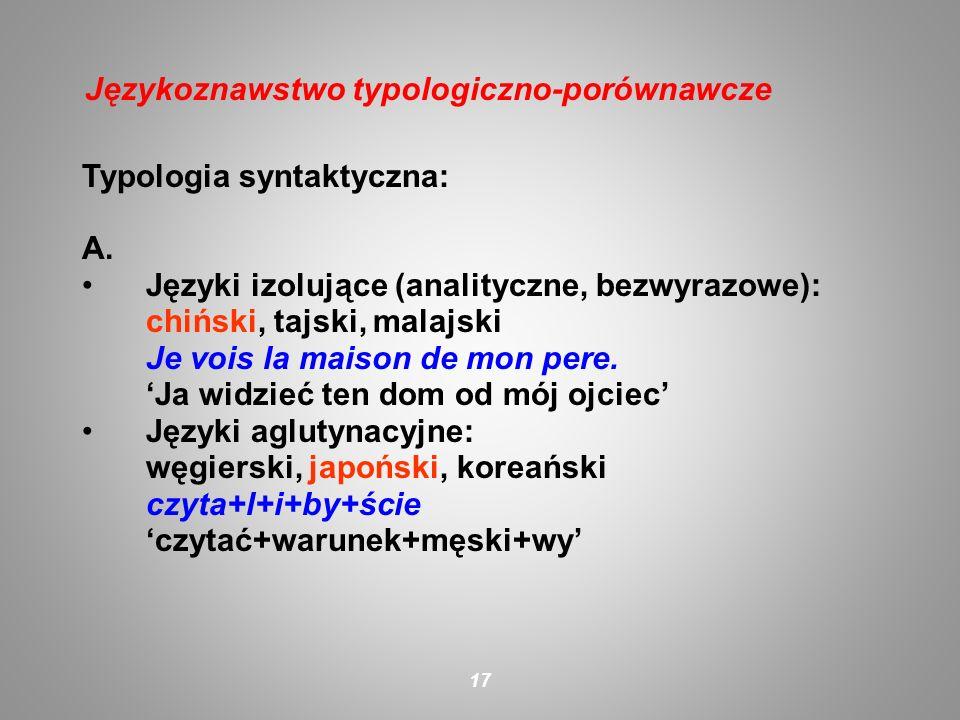 Językoznawstwo typologiczno-porównawcze