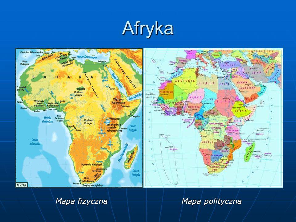 Afryka Mapa fizyczna Mapa polityczna