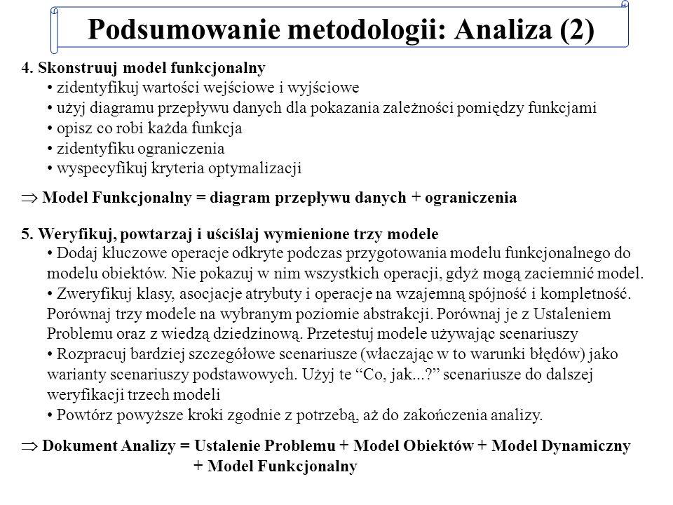 Podsumowanie metodologii: Analiza (2)