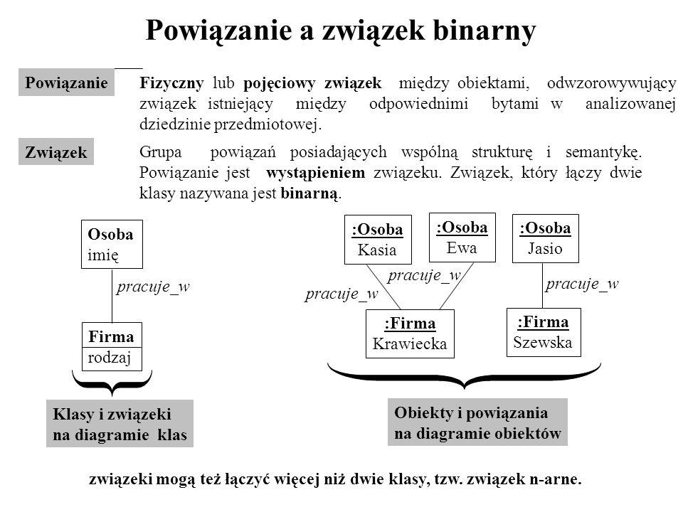 Powiązanie a związek binarny