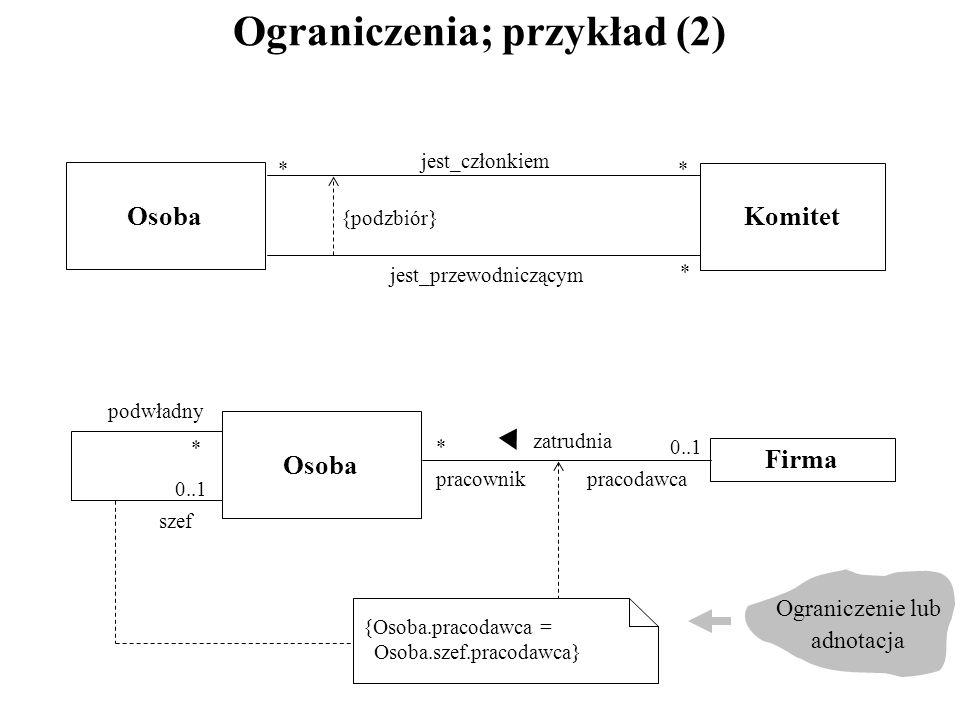 Ograniczenia; przykład (2)