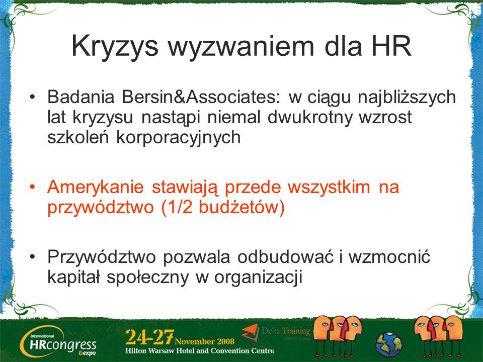 Kryzys wyzwaniem dla HR