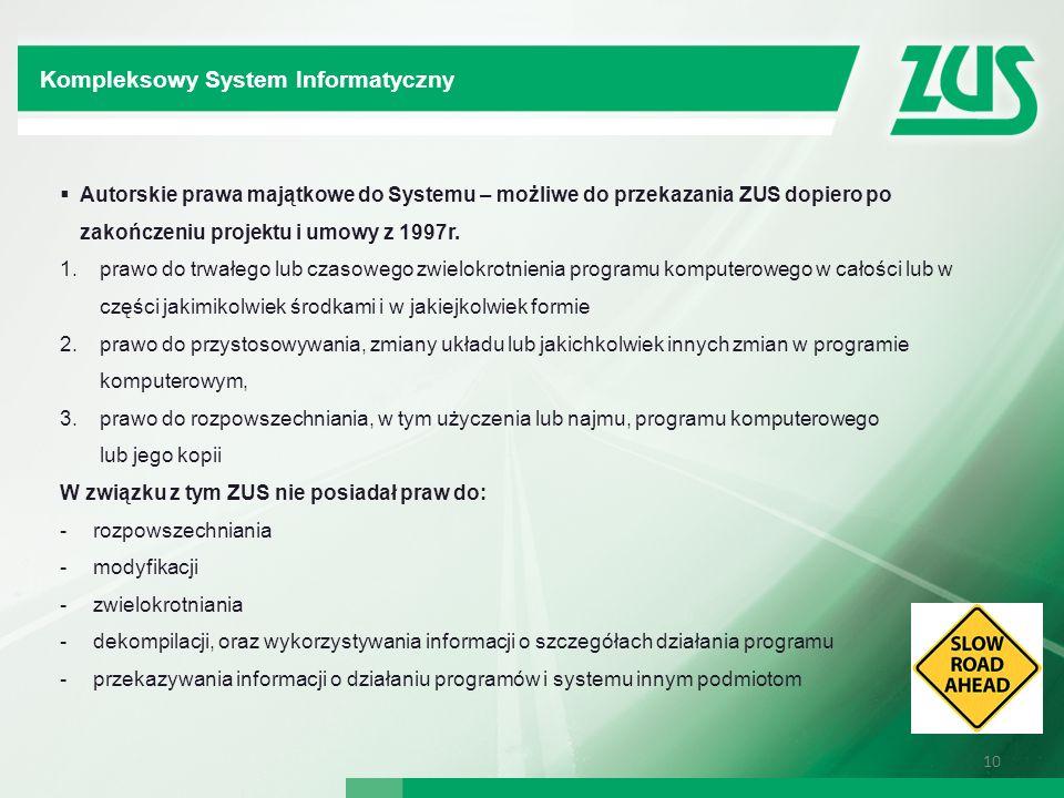 Kompleksowy System Informatyczny Kompleksowy System Informatyczny