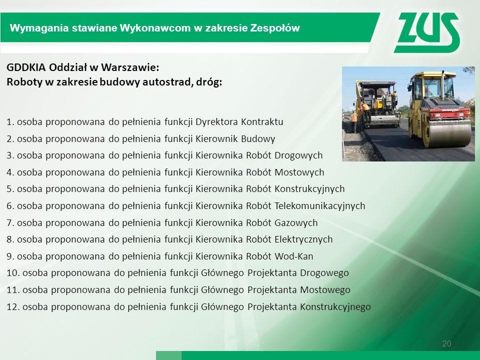 GDDKIA Oddział w Warszawie: Roboty w zakresie budowy autostrad, dróg: