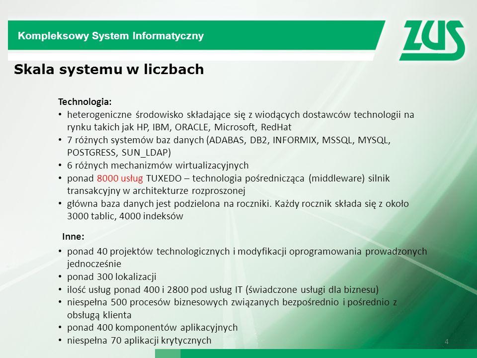 Inne: Skala systemu w liczbach Kompleksowy System Informatyczny