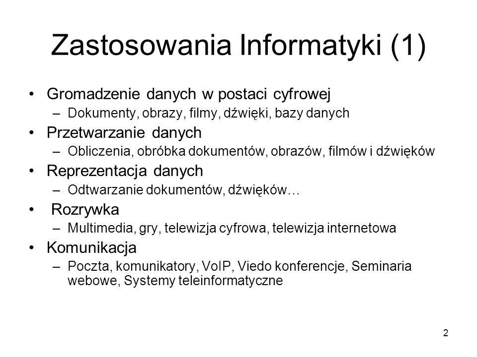 Zastosowania Informatyki (1)