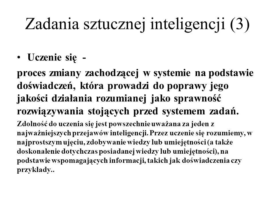 Zadania sztucznej inteligencji (3)