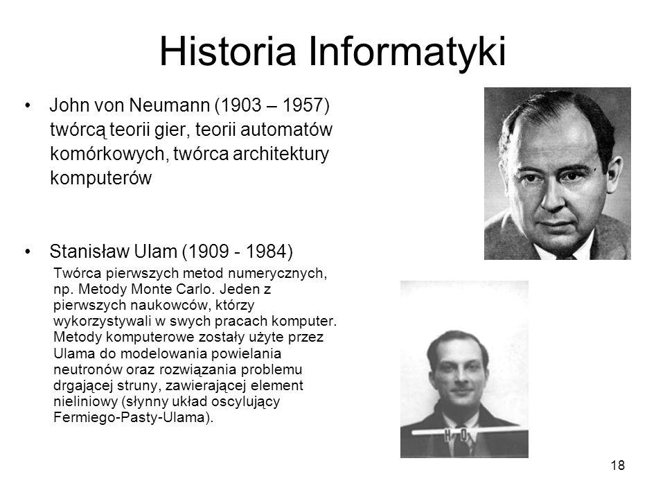 Historia Informatyki John von Neumann (1903 – 1957)
