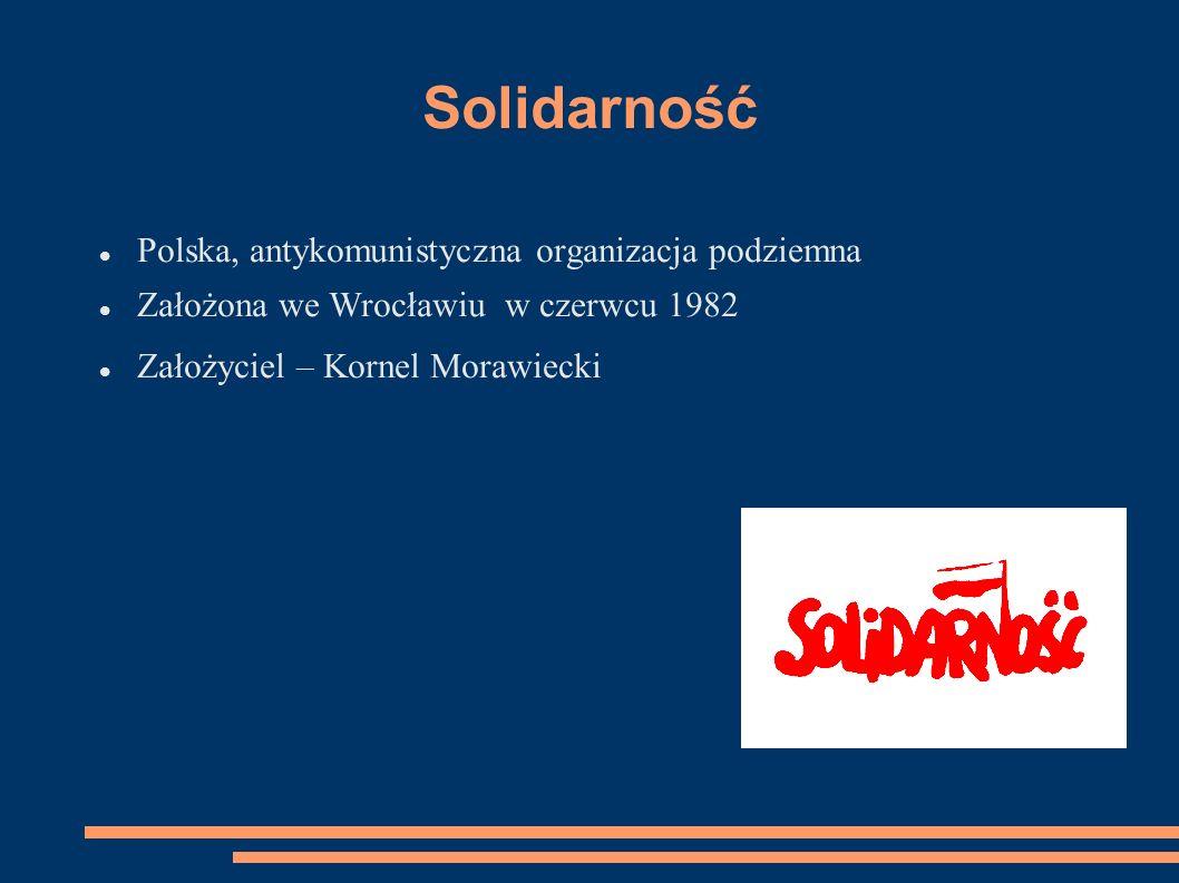 Solidarność Polska, antykomunistyczna organizacja podziemna
