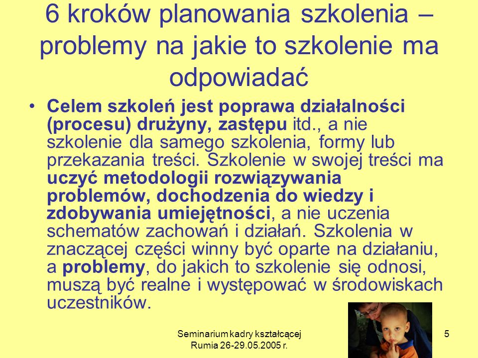 Seminarium kadry kształcącej Rumia 26-29.05.2005 r.