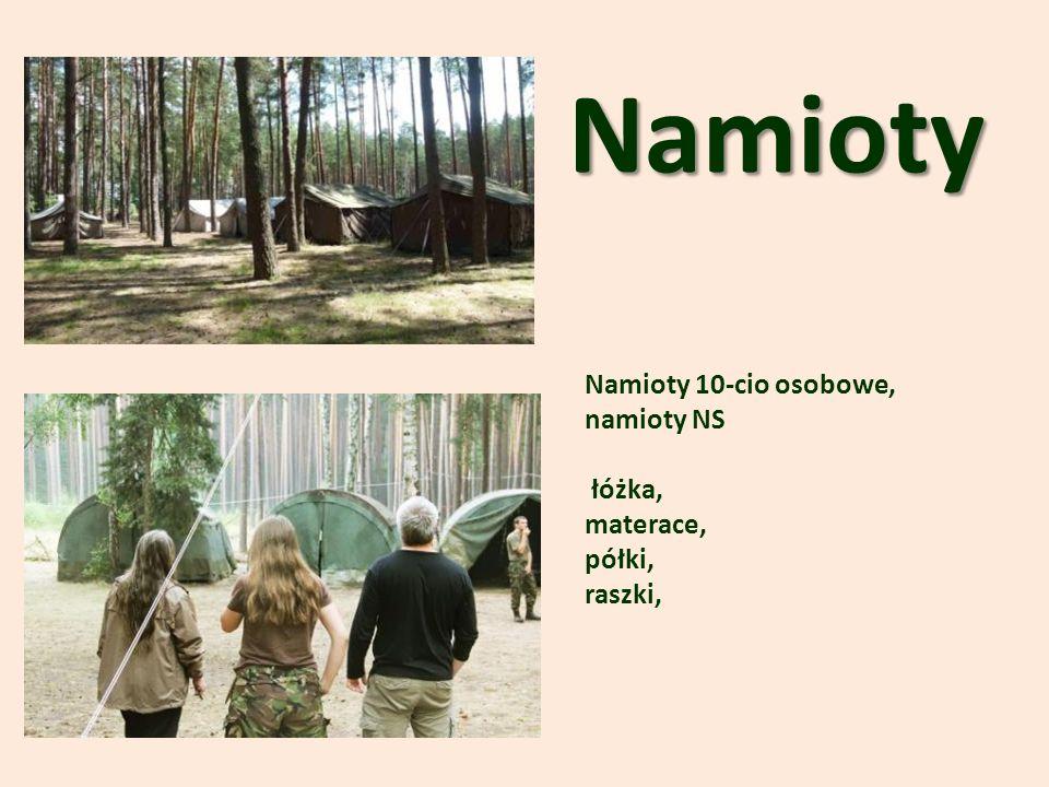 Namioty Namioty 10-cio osobowe, namioty NS łóżka, materace, półki,