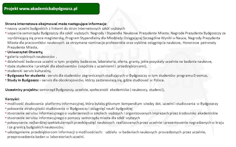 Projekt www.akademickabydgoszcz.pl