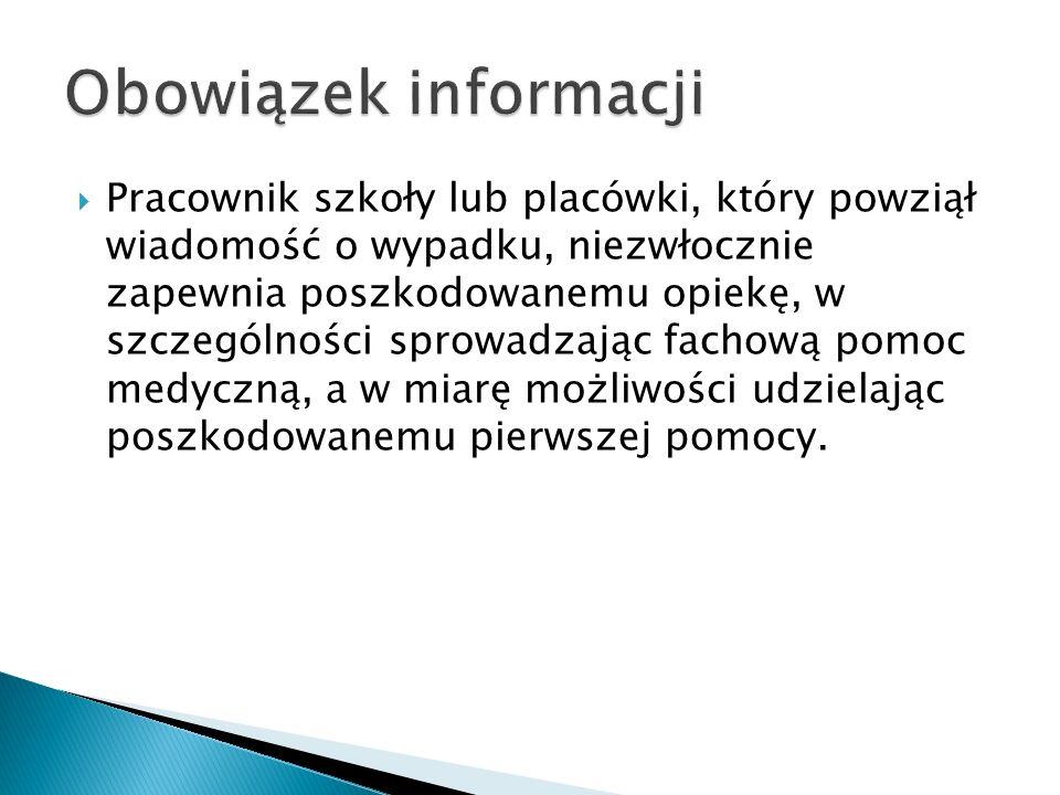 Obowiązek informacji