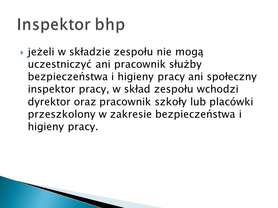 Inspektor bhp