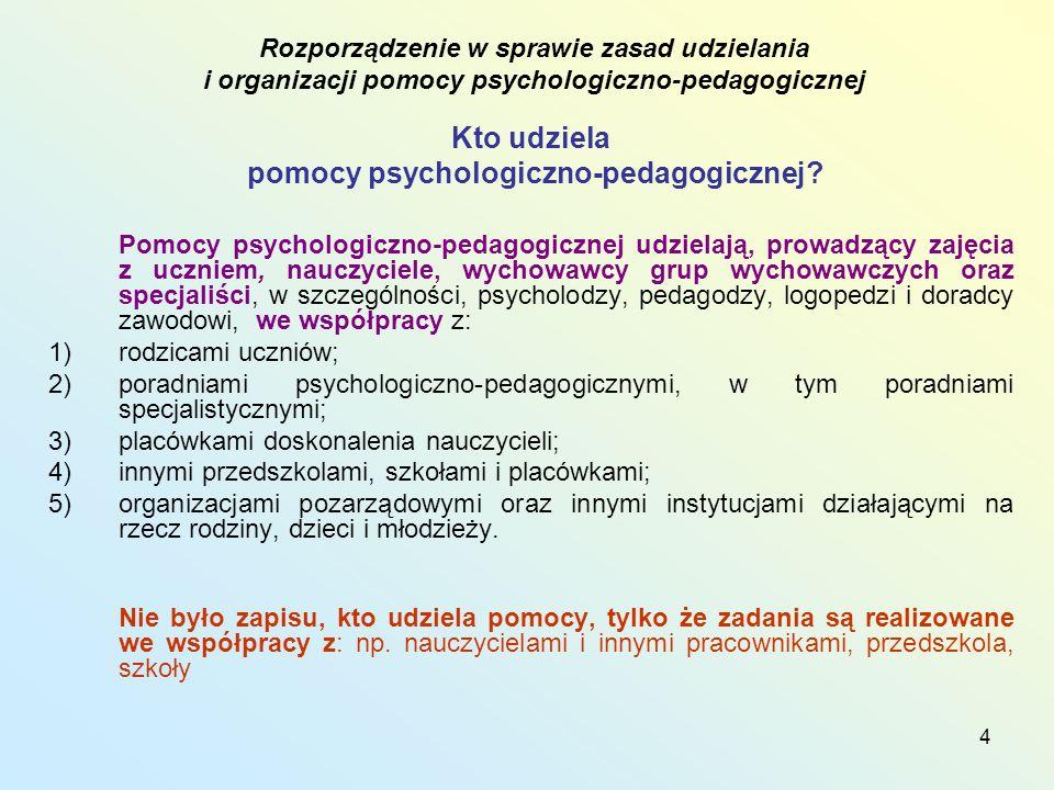 pomocy psychologiczno-pedagogicznej
