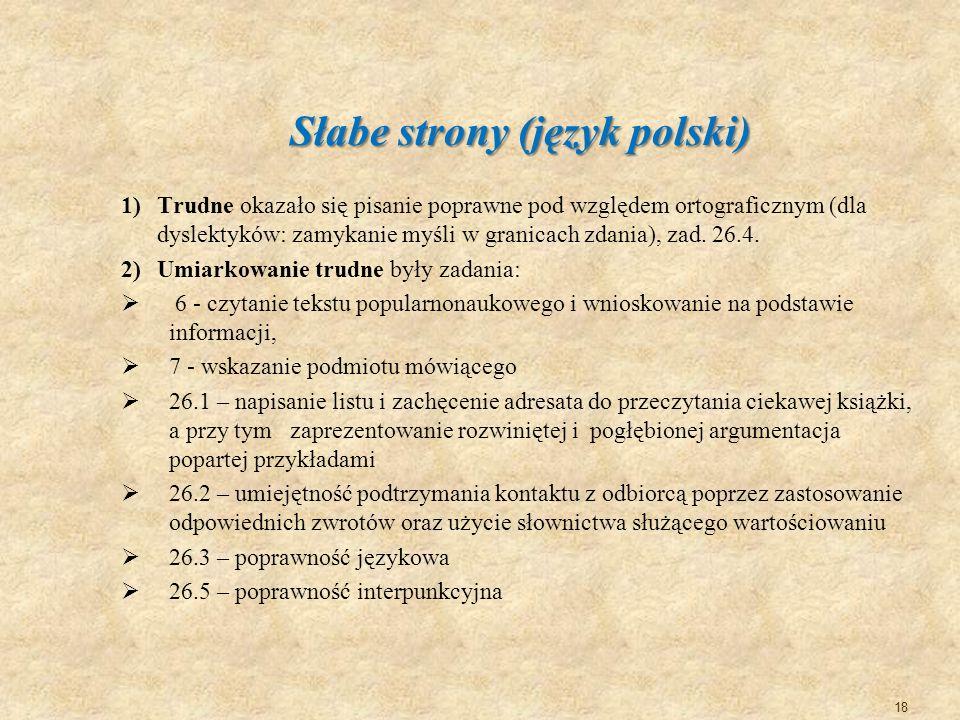 Słabe strony (język polski)
