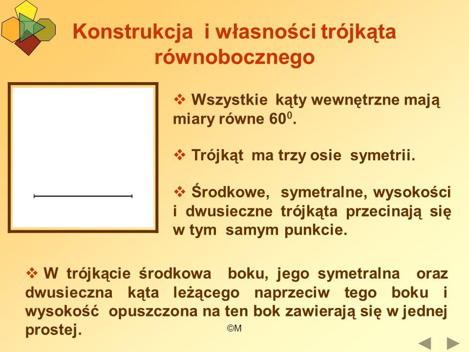 Konstrukcja i własności trójkąta równobocznego