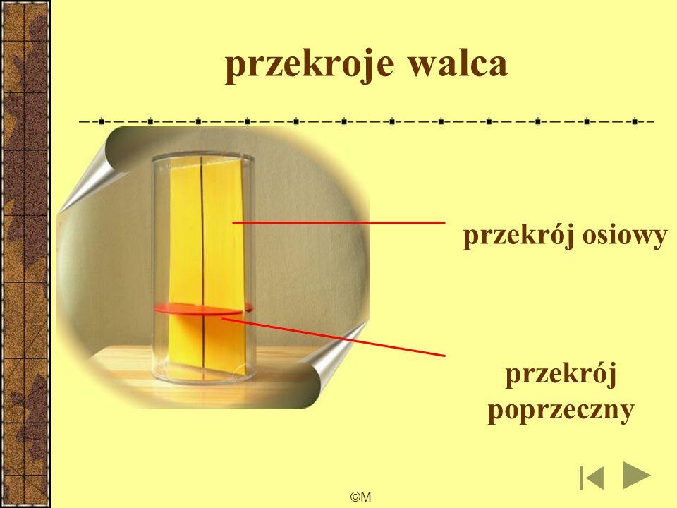 przekroje walca przekrój osiowy przekrój poprzeczny ©M