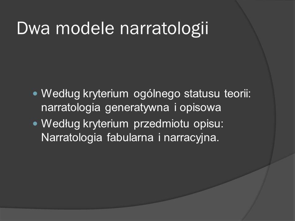 Dwa modele narratologii