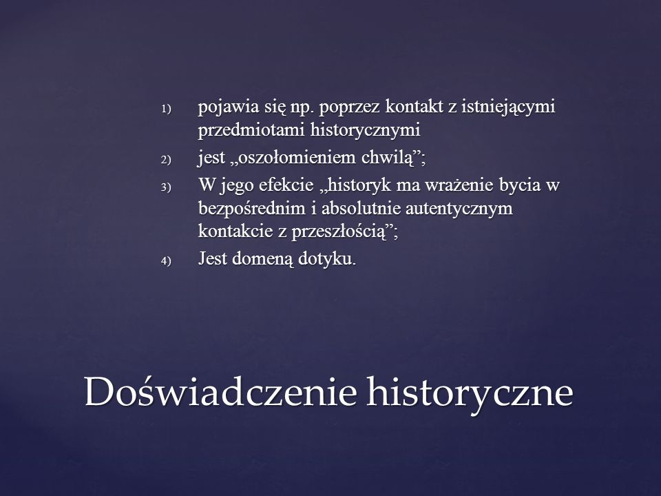 Doświadczenie historyczne