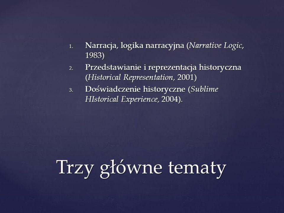 Trzy główne tematy Narracja, logika narracyjna (Narrative Logic, 1983)