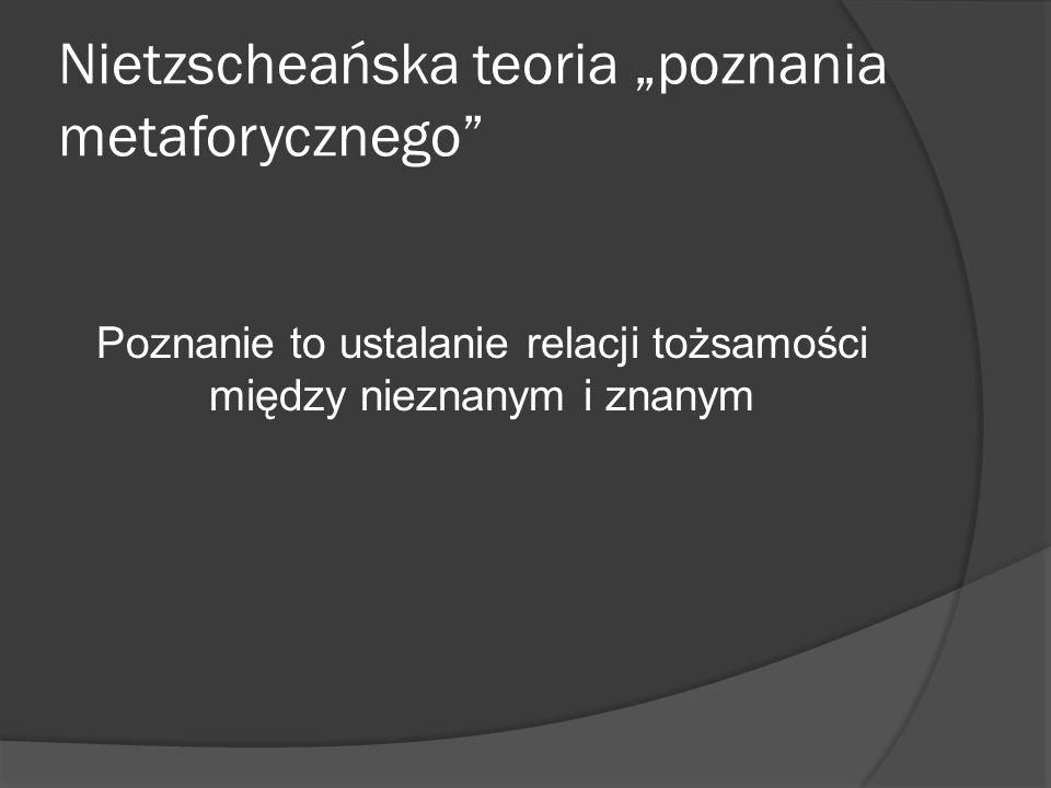 """Nietzscheańska teoria """"poznania metaforycznego"""