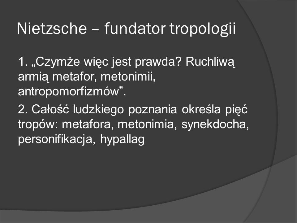 Nietzsche – fundator tropologii