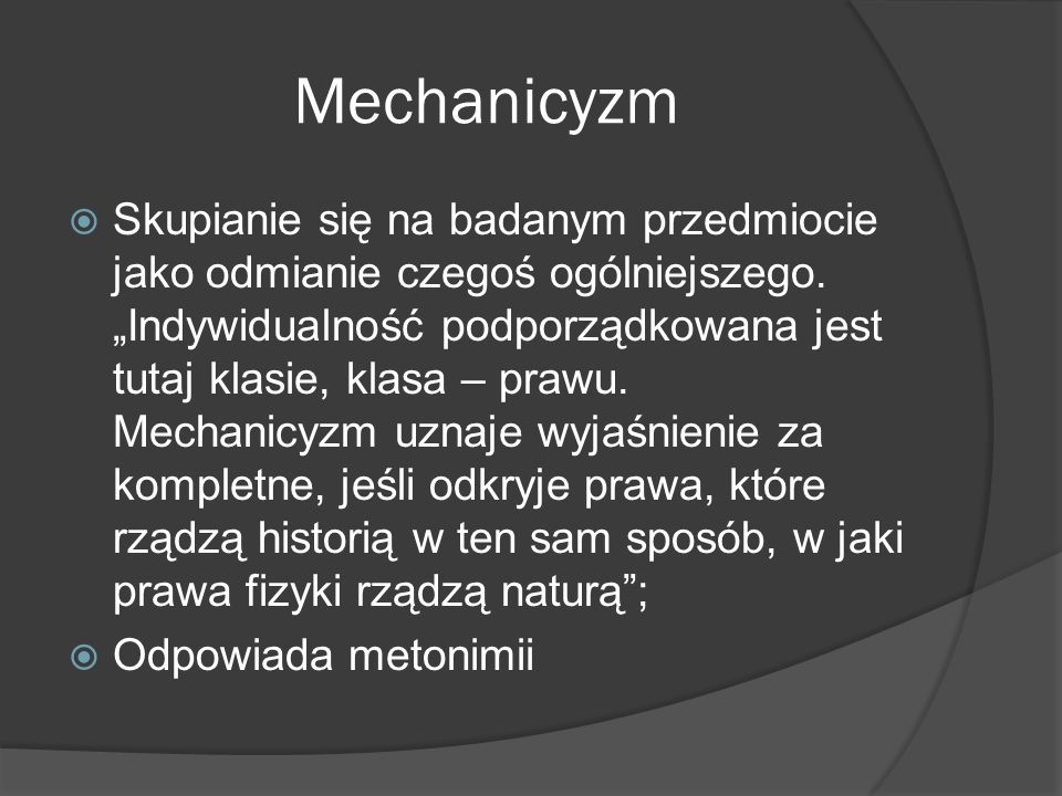 Mechanicyzm