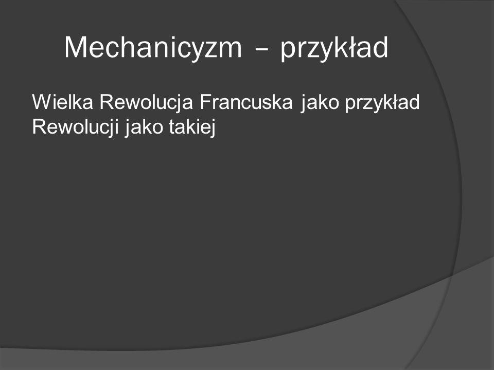 Mechanicyzm – przykład